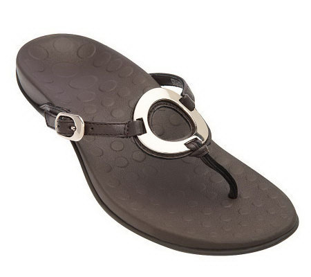 Vionic w/ Orthaheel Yolonda Orthotic Thong Sandals