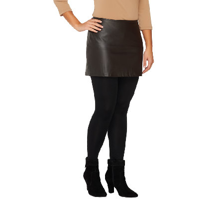 Legacy Ankle Length Faux Leather Skirted Leggings - Page 1 — QVC.com