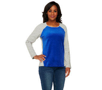 Denim & Co. Active French Terry Sweatshirt - A260054