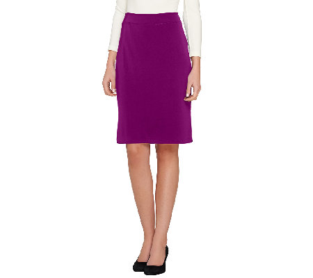 Linea by Louis Dell'Olio Moss Crepe Knit Skirt