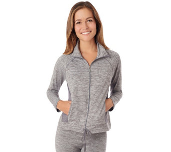 Cuddl Duds Sport Layer Full Zip Mock Neck Jacket - A263154