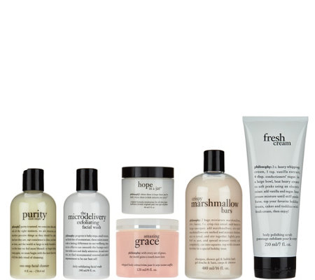 philosophy skincare & body care collection with bag