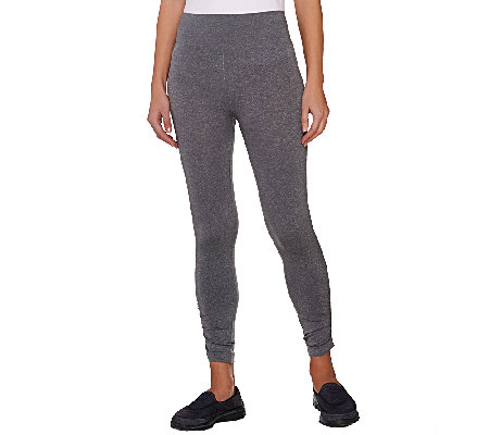 Legacy Seamless Heathered Ruched Ankle Leggings