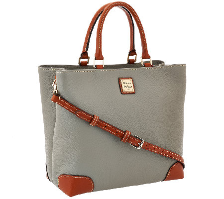 Dooney & Bourke Pebble Leather Square Satchel
