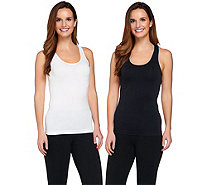 Breezies Set of 2 Seamless Racerback Tanks - A269454