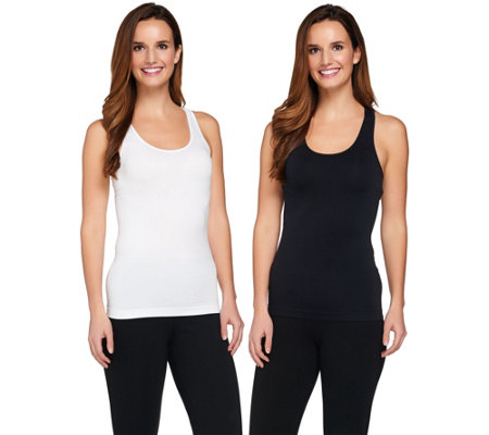Breezies Set of 2 Seamless Racerback Tanks