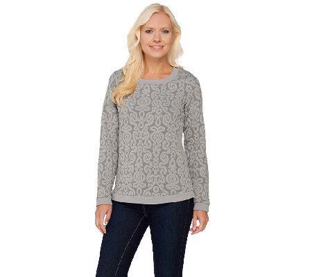 Isaac Mizrahi Live! Medallion Quilted Sweater