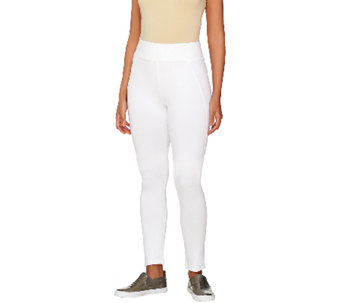 """As Is"" LOGO by Lori Goldstein Regular Ankle Pants with Back Slits - A271254"