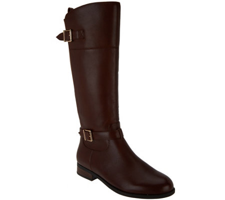 Vionic Orthotic Tall Shaft Leather Boots - Storey