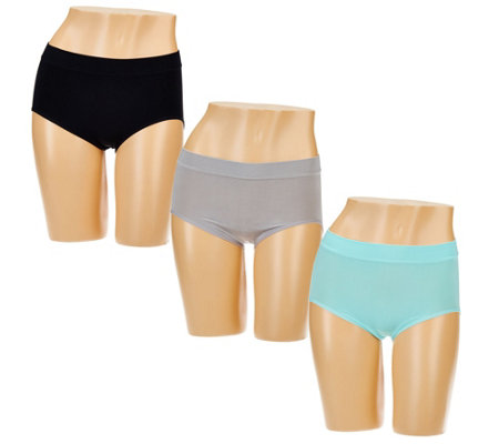 Breezies Set of 3 Seamless Full Brief Panties