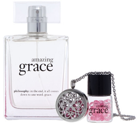 philosophy amazing grace scented necklace & 2 oz eau de parfum