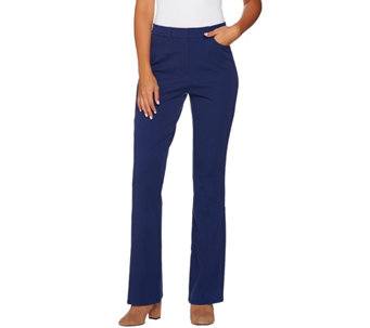 Isaac Mizrahi Live! Petite 24/7 Stretch Boot Cut Fly Front Pants - A279254
