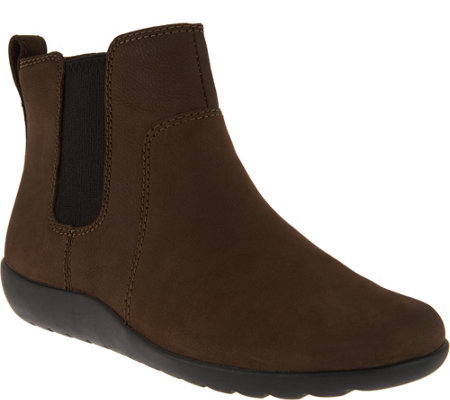 Clarks Collection Nubuck Leather Chelsea Boots - Medora Grace