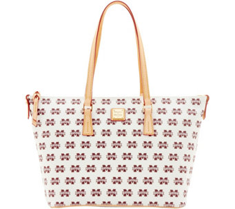 Dooney & Bourke NCAA Mississippi State Zip Top Shopper - A283254