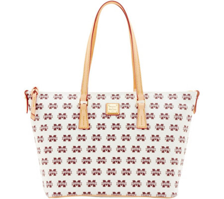 Dooney & Bourke NCAA Mississippi State Zip Top Shopper