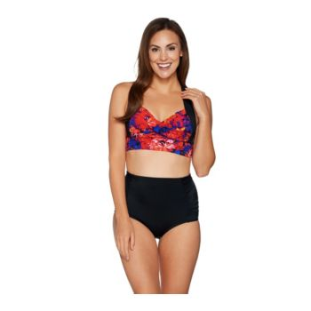 Contour by Beach Scene Halter and High Waisted Brief Swimsuit