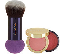 Westmore Double Feature Powder-Over Cream Blush w/ Brush - A290454