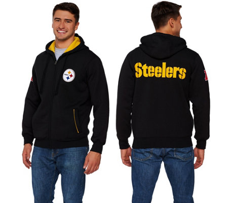 """As Is"" NFL Team Color Sherpa Lined Zip Up Hoodie"