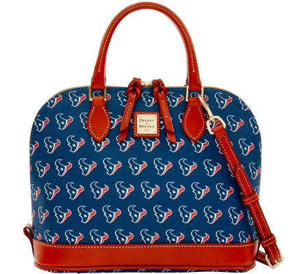 """As Is"" Dooney & Bourke NFL Texans Zip Zip Satchel"