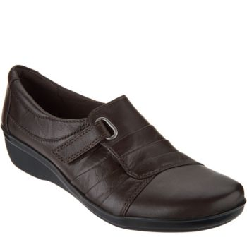 Clarks Leather Monk Strap Slip-on Shoes - Everlay Luna
