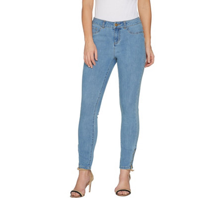 G.I.L.I. Petite Ankle Zip Jeans