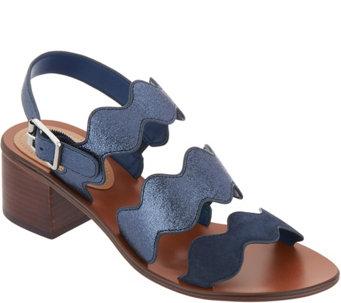 94cceb4bc5e Marc Fisher Block Heel Back Strap Sandals - Omalla - A303054