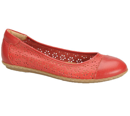 Softspots Carajean Leather Flats