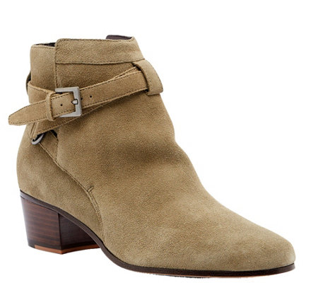 Sole Society Leather or Suede Ankle Booties - Leo