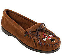 Minnetonka Boat Moccasins - Thunderbird Boat Suede - A362554