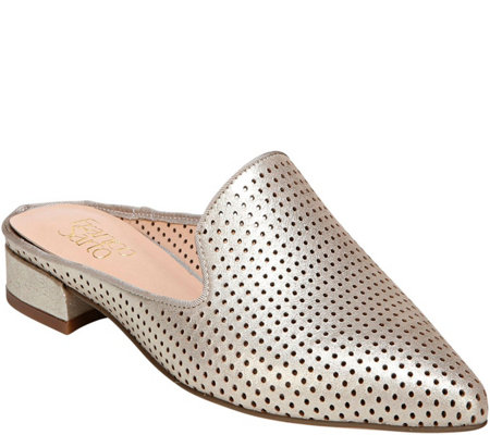 Franco Sarto Perforated Pointed Toe Mules - Samanta 5