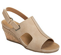 Aerosoles Heel Rest Wedge Sandals - Shortcake - A412854