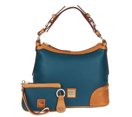 Dooney & Bourke Leather Hobo Bag with Wristlet and Key Fob - Page ...