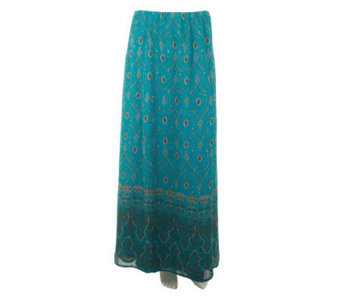 Nicole Richie Collection Placed Print Pull-on Maxi Skirt - A233555