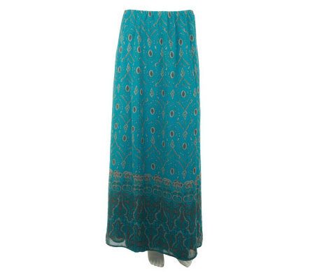 Nicole Richie Collection Placed Print Pull-on Maxi Skirt