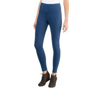 Women with Control Tummy Control Petite Leggings w/Seam Detail - A234855