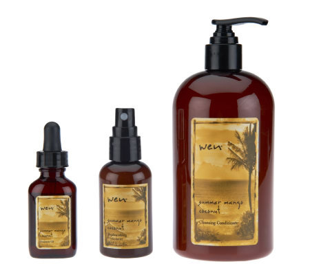 wen by chaz dean summer mango coconut 3 pc collection page 1 qvc