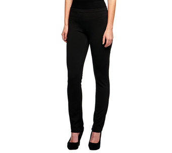 Isaac Mizrahi Live! Icon Grace Petite Pull On Ponte Knit Pants - A236955