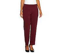 Susan Graver Petite Chelsea Stretch Pants with Pockets - A258255