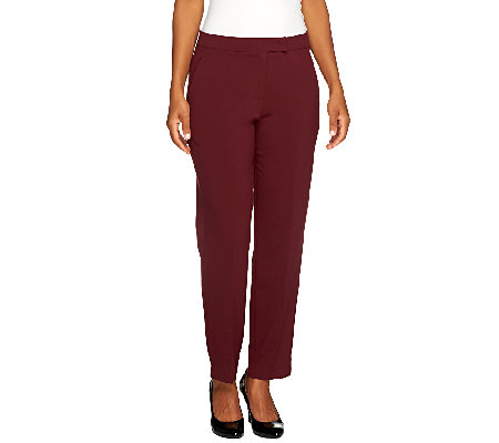Susan Graver Petite Chelsea Stretch Pants with Pockets