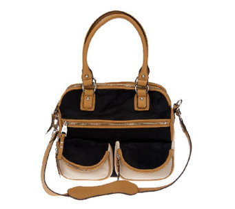 """As Is"" Aimee Kestenberg Leather Lucy Satchel with Front Pockets - A265155"