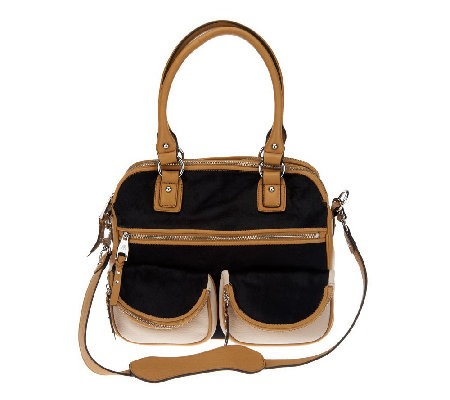"""As Is"" Aimee Kestenberg Leather Lucy Satchel with Front Pockets"
