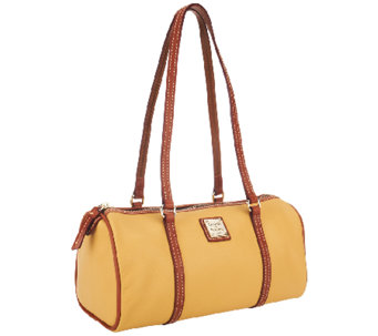 """As Is"" Dooney & Bourke Lambskin Barrel Bag - A270155"