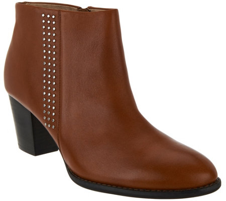 Vionic Orthotic Leather Ankle Boots - Georgia