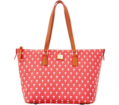 Dooney & Bourke MLB Phillies Zip Top Shopper