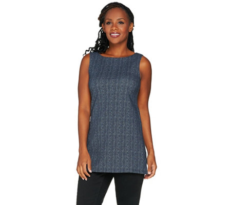 Women with Control Herringbone Printed Tunic