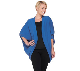 """As Is"" Layers by Lizden Cotton Tri-Blend Cocoon Cardigan - A281255"