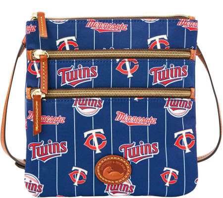 Dooney & Bourke MLB Nylon Twins Triple Zip Crossbody