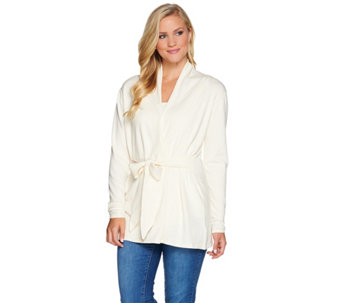 Belle by Kim Gravel Tunic Sweater with Wrap Tie - A282055