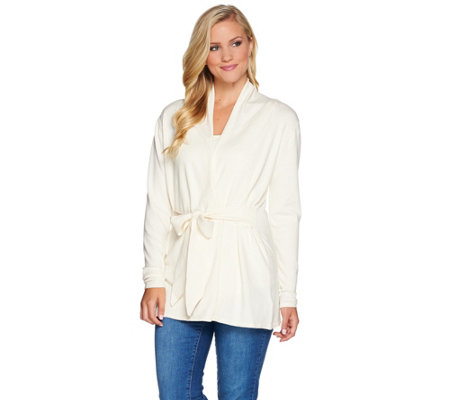 Belle by Kim Gravel Tunic Sweater with Wrap Tie