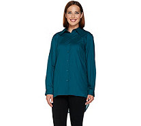 Joan Rivers Girlfriend Shirt with Silky Chiffon Back - A284155